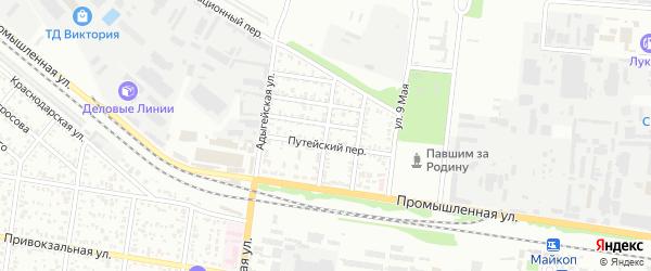 Почтовый переулок на карте Майкопа с номерами домов