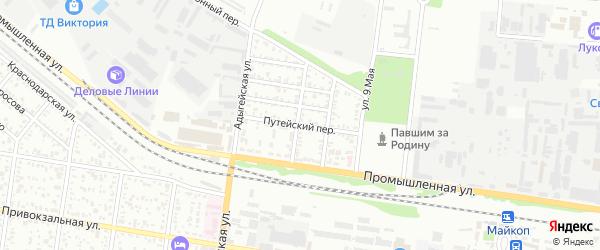 Путейский переулок на карте Майкопа с номерами домов