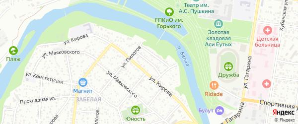 Малый переулок на карте Майкопа с номерами домов