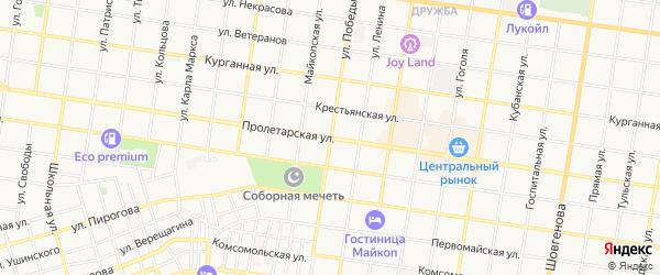 Карта садового некоммерческого товарищества Эры города Майкопа в Адыгее с улицами и номерами домов