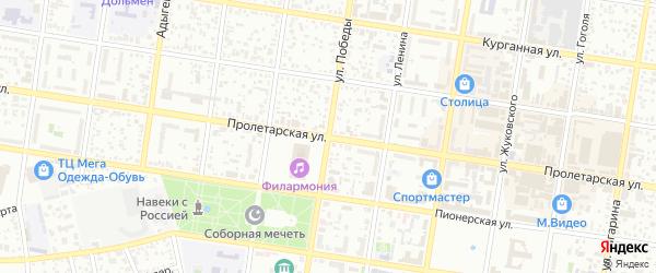Журавлиная улица на карте Майкопа с номерами домов
