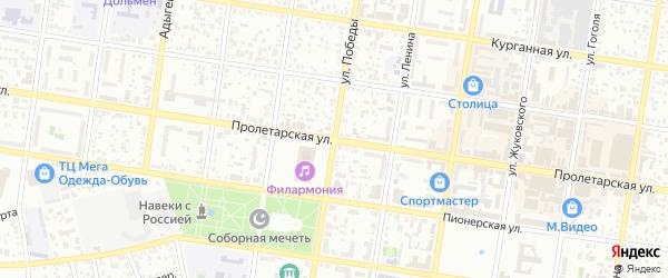 Севастопольская улица на карте Майкопа с номерами домов