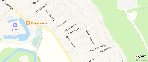 Светлая улица на карте садового некоммерческого товарищества Восхода с номерами домов