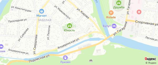 Переулок Нефтяников на карте Майкопа с номерами домов