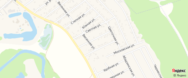 Сиреневая улица на карте садового некоммерческого товарищества Лесовика с номерами домов