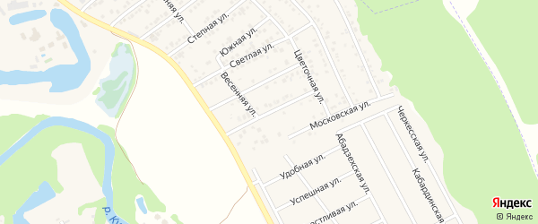 Улица 50 лет Победы на карте Краснооктябрьского поселка с номерами домов