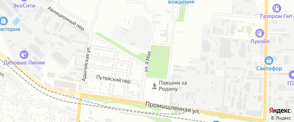 9 Мая улица на карте садового некоммерческого товарищества Звезды с номерами домов