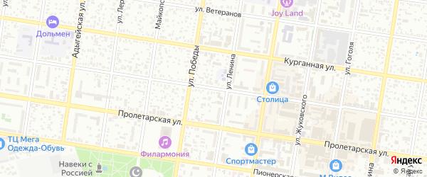 Крестьянская улица на карте Майкопа с номерами домов