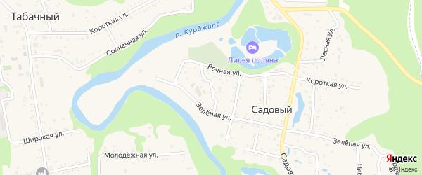 Зеленый переулок на карте Садового хутора с номерами домов