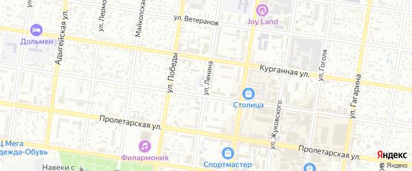 Улица Ленина на карте Майкопа с номерами домов