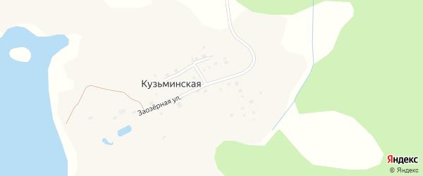 Солнечный переулок на карте Кузьминской деревни с номерами домов