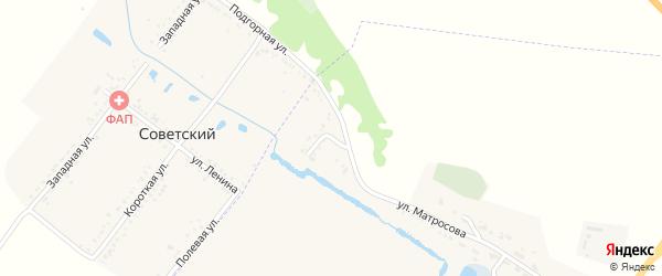 Луговая улица на карте Северного поселка с номерами домов
