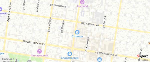 Краснооктябрьская улица на карте Майкопа с номерами домов