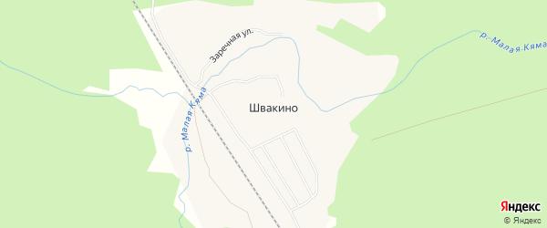Карта поселка Швакино в Архангельской области с улицами и номерами домов