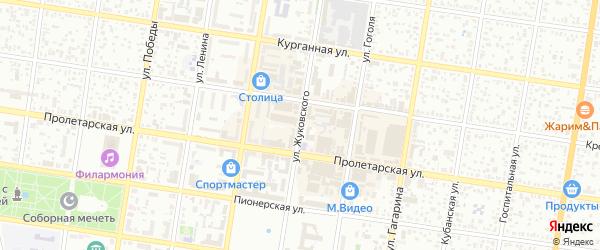 Улица Жуковского на карте Майкопа с номерами домов