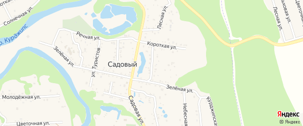 Советская улица на карте Садового хутора с номерами домов