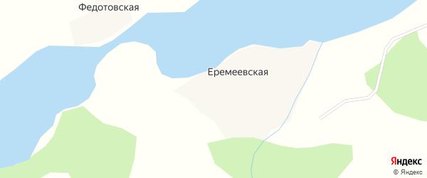 Озерная улица на карте Еремеевской деревни с номерами домов