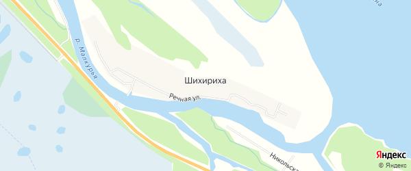 Карта деревни Шихирихи в Архангельской области с улицами и номерами домов