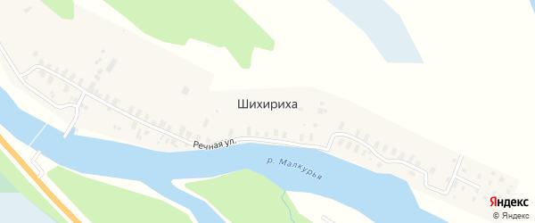 Речная улица на карте деревни Шихирихи с номерами домов
