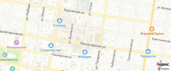 Улица Гоголя на карте Майкопа с номерами домов