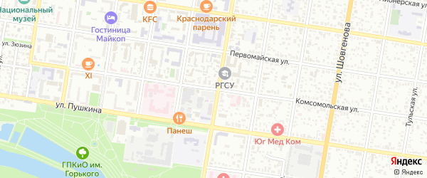 Комсомольская улица на карте садового некоммерческого товарищества Селекционера с номерами домов