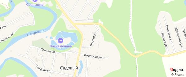 Лесная улица на карте Садового хутора с номерами домов