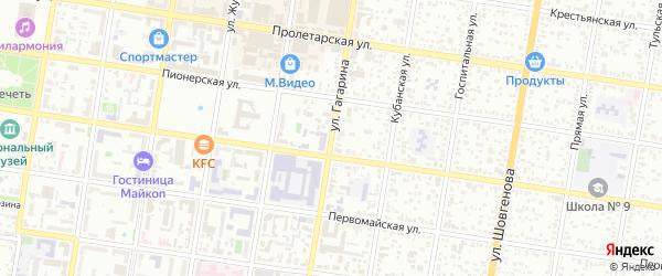 Улица Гагарина на карте хутора Косинова с номерами домов