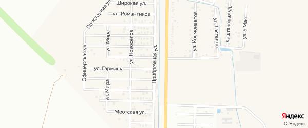 Прибрежная улица на карте Северного поселка с номерами домов
