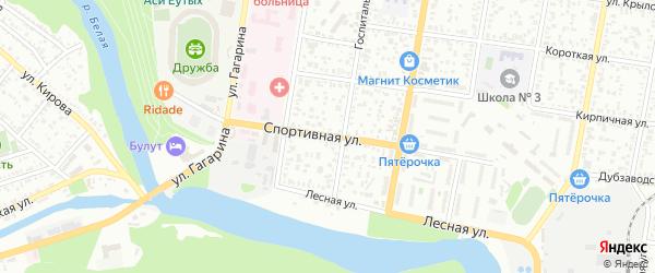 Спортивная улица на карте садового некоммерческого товарищества Родника с номерами домов