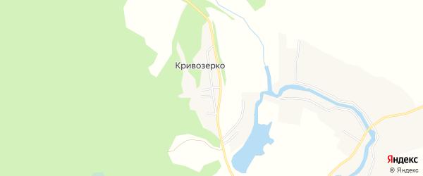 Карта поселка Кривозерка в Архангельской области с улицами и номерами домов