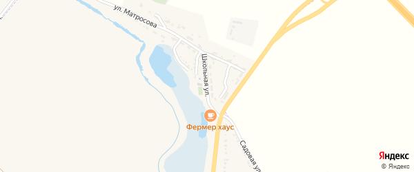 Школьная улица на карте Северного поселка с номерами домов