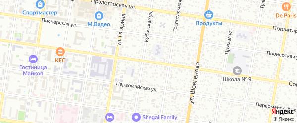 Советская улица на карте Майкопа с номерами домов