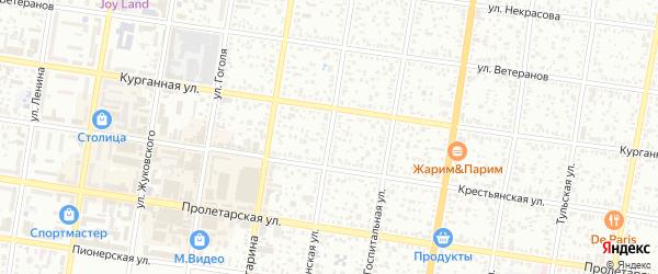 Кубанская улица на карте Майкопа с номерами домов