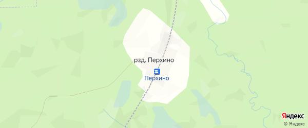 Карта разъезда Перхино в Архангельской области с улицами и номерами домов