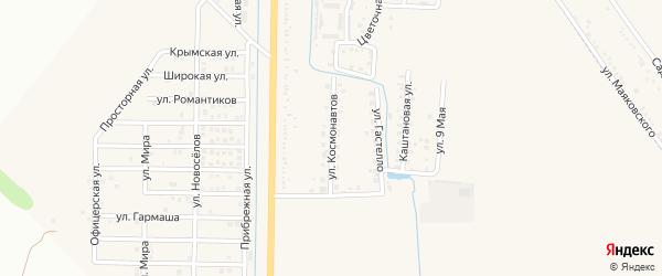 Улица Космонавтов на карте Северного поселка с номерами домов