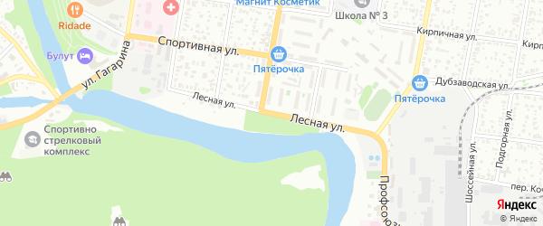 Лесная улица на карте садового некоммерческого товарищества Дружбы с номерами домов