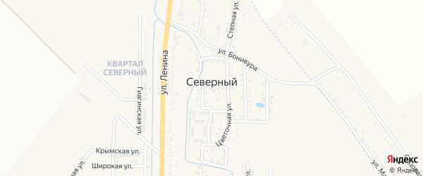 Улица Мелиораторов на карте Северного поселка с номерами домов