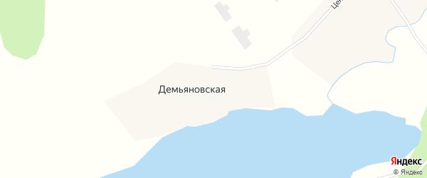 Колхозная улица на карте Демьяновской деревни с номерами домов