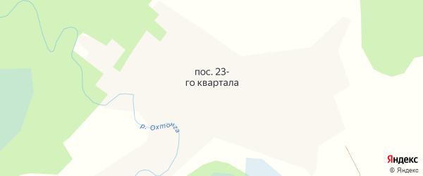Спортивная улица на карте поселка 23-го квартала с номерами домов
