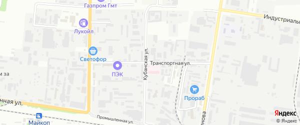 Транспортная улица на карте садового некоммерческого товарищества Красноречья с номерами домов