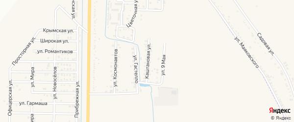 Каштановая улица на карте Северного поселка с номерами домов