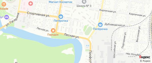 Лесная улица на карте садового некоммерческого товарищества Коммунальника 2 с номерами домов