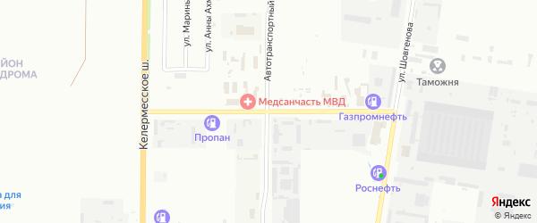 Улица Строителей на карте садового некоммерческого товарищества Авангарда с номерами домов