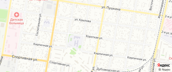 Короткая улица на карте садового некоммерческого товарищества Селекционера с номерами домов