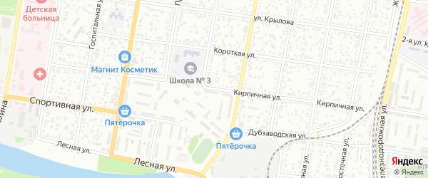 Кирпичная улица на карте Майкопа с номерами домов