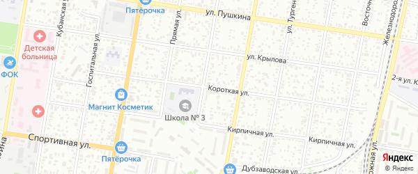 Короткая улица на карте садового некоммерческого товарищества Севера с номерами домов