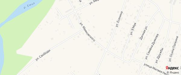 Улица Маяковского на карте Савинского поселка с номерами домов