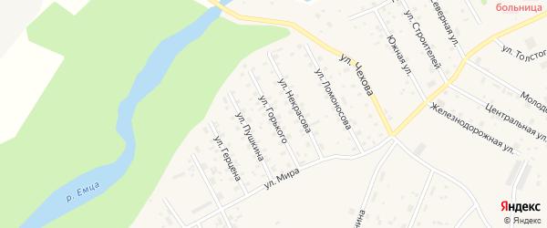 Улица Горького на карте Савинского поселка с номерами домов