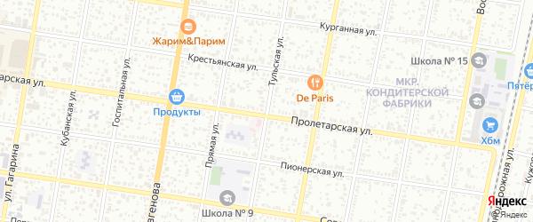 Тульская улица на карте Майкопа с номерами домов