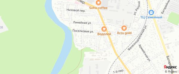 Вишневый переулок на карте Майкопа с номерами домов